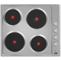 Beko HIZE64101X 60Cm Solid Plate Electric Hob Stainless Steel