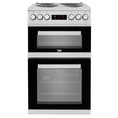 KDV555AS Beko 50Cm Double Oven Electric Cooker