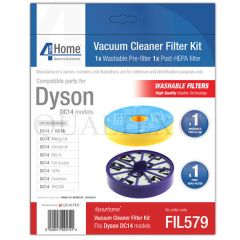 Vacuum Cleaner Pre & Post Motor HEPA FILTER KIT Fits DYSON DC14