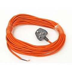 universal orange cable and plug (2core x 10.mm) 12m long